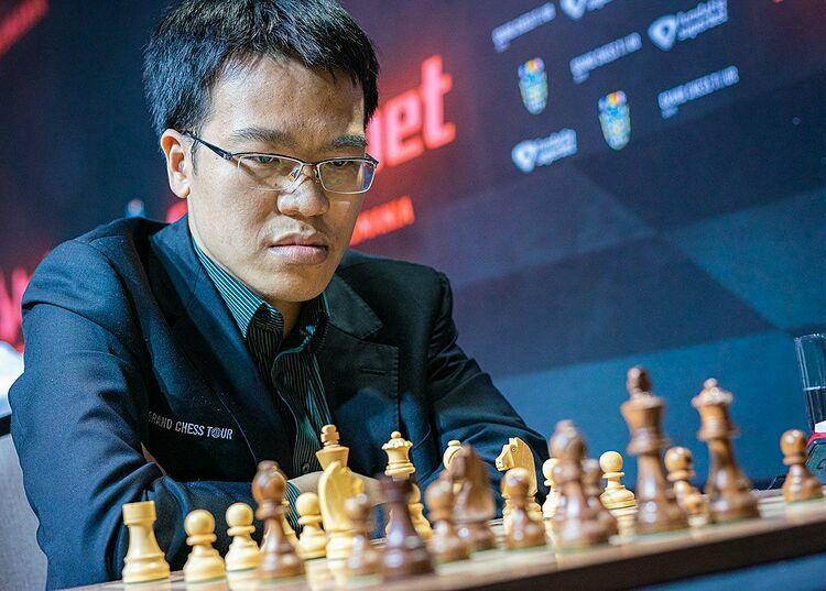 Quang Liêm kịp thoát khỏi vị trí cuối sau ba ngày thi đấu cờ nhanh. Ảnh: Chess.com.