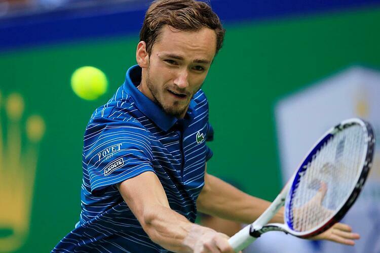 Medvedev làtay vợt Nga đầu tiên góp mặt tham dự ATP Finals, kể từ saulần đồng hương Nikolay Davydenko đoạt chức vô địch tại đâynăm 2009. Ảnh: Reuters.