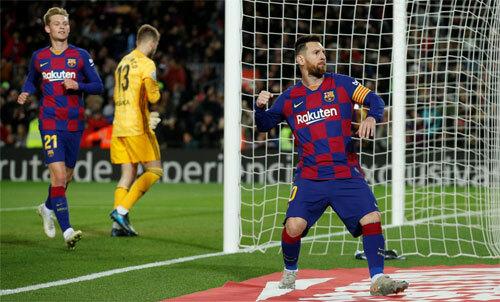 Messi bùng nổ sau hai trận không như ý. Ảnh: Reuters