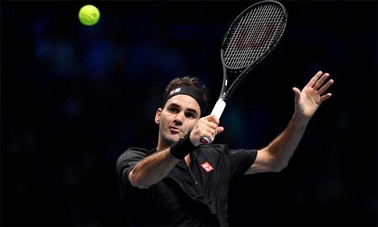 Federer năm thứ hai liên tiếp thua trận ra quân tại ATP Finals. Ảnh: Reuters.
