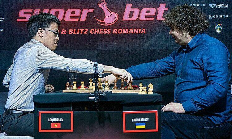 Quang Liêm có giải đấu thành công trước hàng loạt cao thủ. Ảnh: Chess.com.
