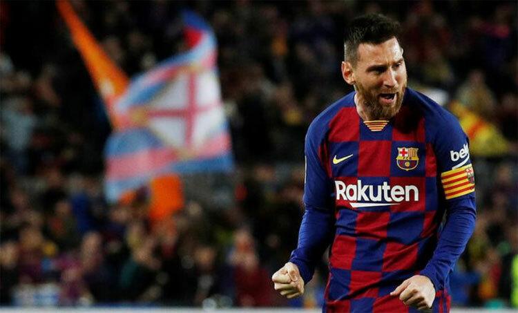 Messi nâng tầm Barca trong 10 năm qua. Ảnh: Reuters