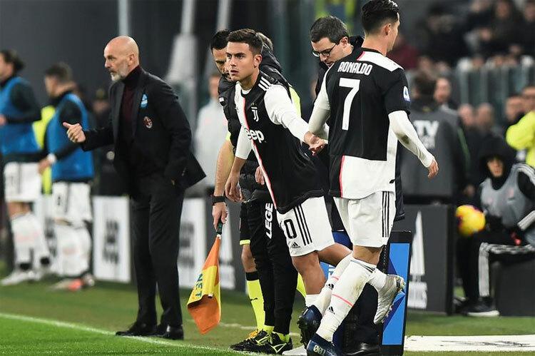 Dybala thế chỗ Ronaldo trong trận đấu tối 10/11. Ảnh: Reuters