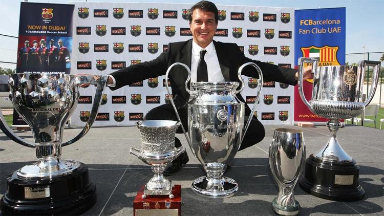 Laporta được xem là vị chủ tịch thành công, mát tay nhất trong lịch sử Barca. Ảnh: The National.