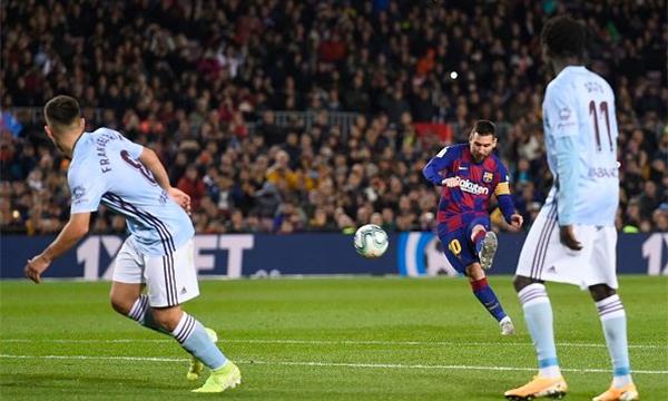 Messi đang thăng hoa với mạch ghi bàn ấn tượng gần đây cho Barca. Ảnh: Opta.