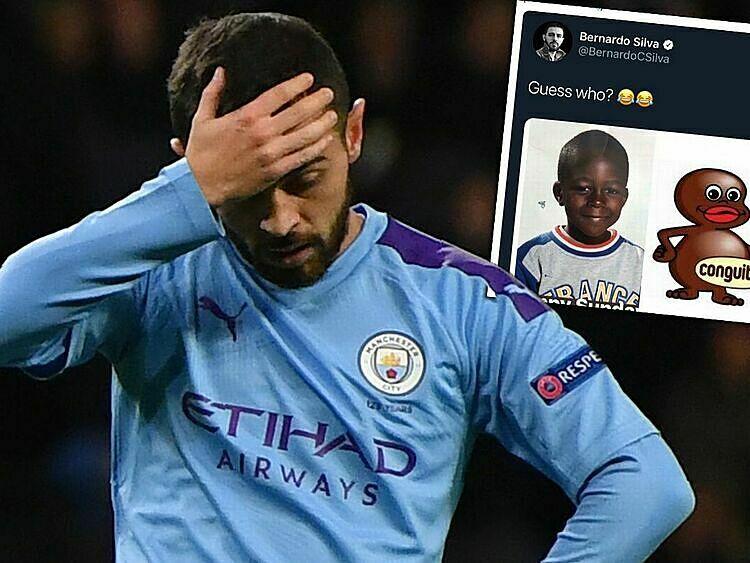 Bài đăng của Silva trên twitter hôm 22/9 nhằm trêu chọc đồng đội Mendy. Ảnh: Metro.