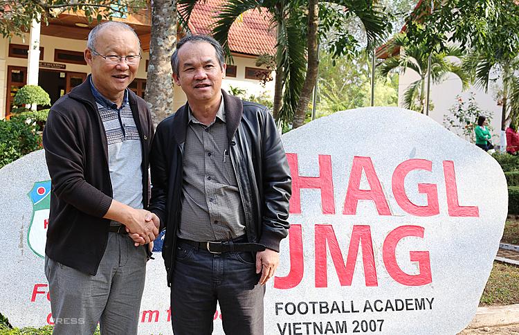HLV Park Hang-seo nhiều lần lên phố núi thăm bầu Đức và học viện HAGL. Ảnh: Đức Đồng.