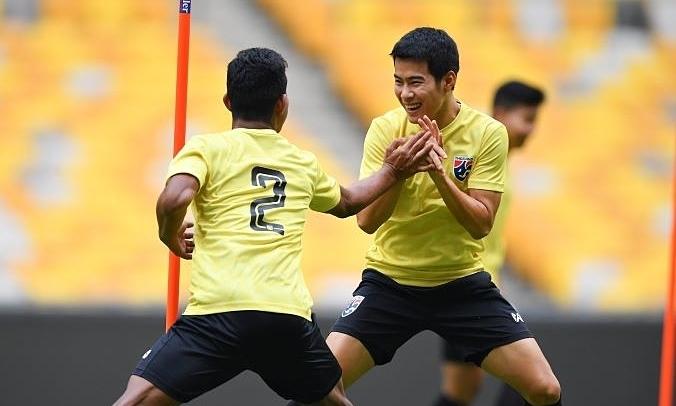 Cầu thủ Thái Lan tự tin trước đại chiến. Ảnh: FAT.
