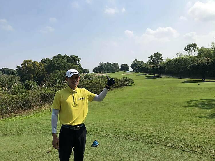Hữu Hoàng là golfer may mắn nhất tại Chervo Open Championship 2019. Ảnh: COC.