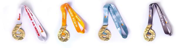Huy chươngcủa giải Marathon quốc tế TP HCM Techcombank 2019 có thiết kế đặc biệt với hình dáng của số 6, tượng trưng cho 6 quận nằm trong đường đua.