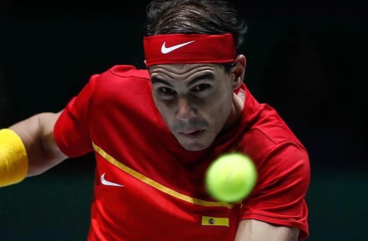 Nadal thắng trận thứ 25 liên tiếp tại Davis Cup. Ảnh: AFP.