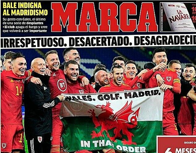 Trang bìa Marca hôm 21/11. Ảnh: Marca.