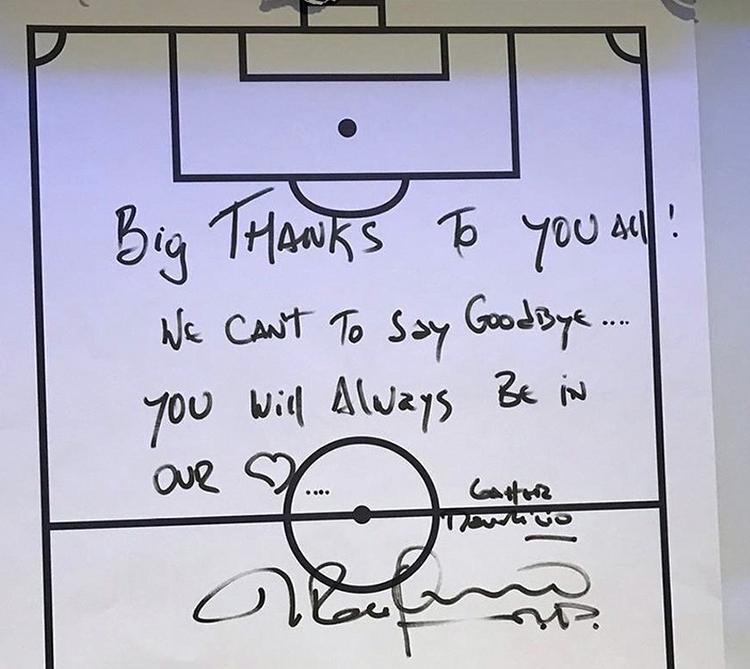 Lời chào của Pochettino gửi tới học trò sau khi bị Tottenham sa thải. Ảnh: Twitter.