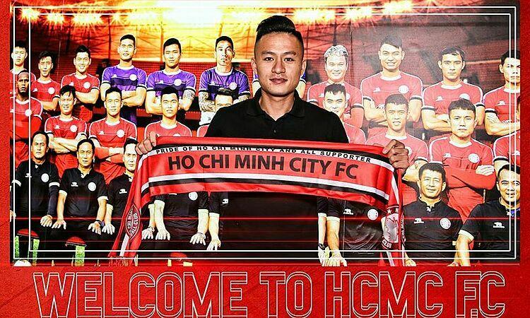 Huy Toàn là tân binh thứ hai của TP HCM trước mùa 2020. Ảnh: CLBTPHCM.