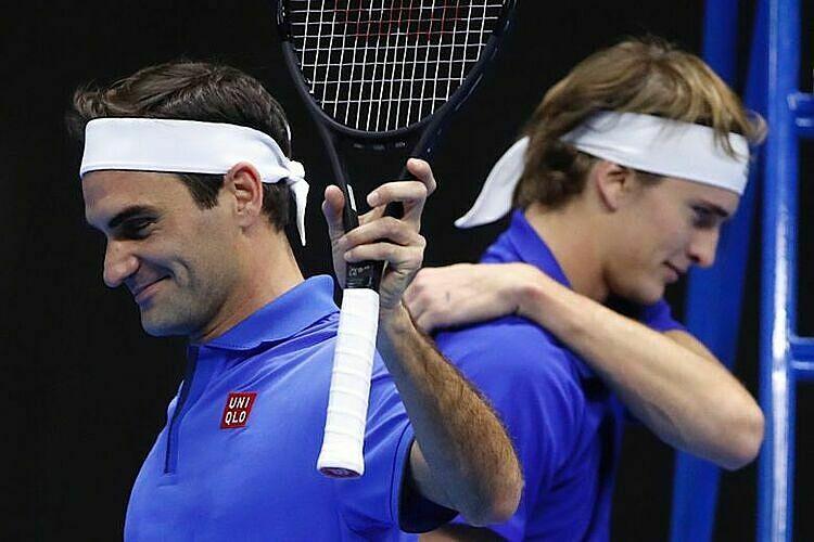 Federer và Zverev đang thi đấu chuỗi trậnbiểu diễn tại Nam Mỹ. Ảnh: PA.