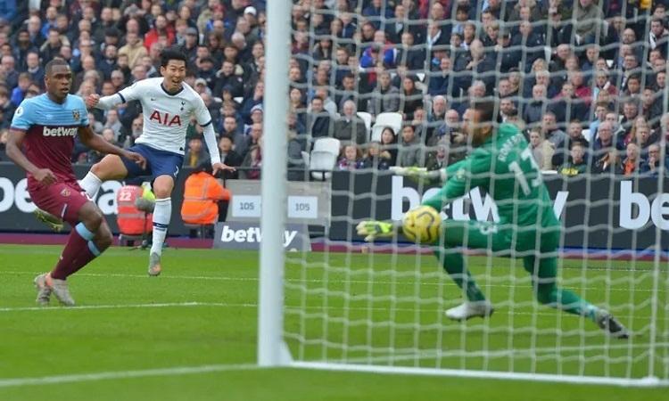 Son tỏa sáng, giúp Tottenham mở tỷ số sau những đợt tấn công không thành công. Ảnh:Shutterstock.