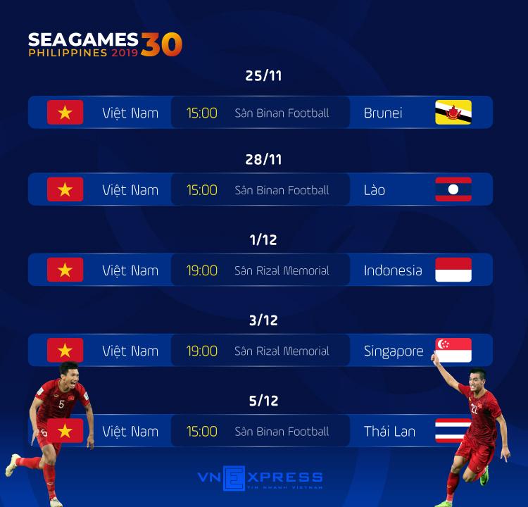 Việt Nam cất trụ cột ở trận ra quân SEA Games 30 - 1