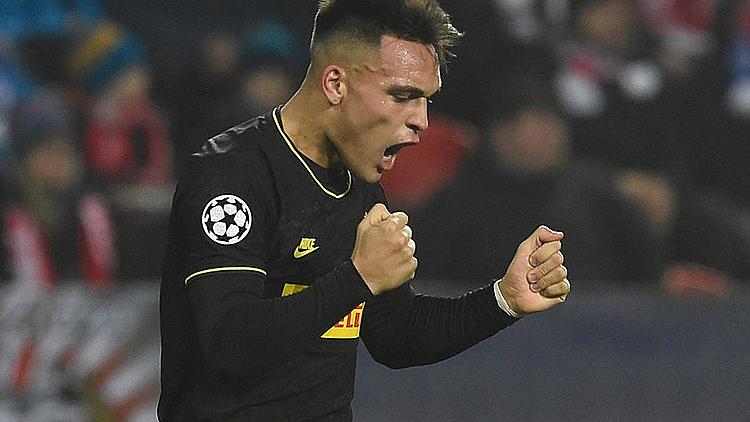 Martinez ghi bàn ở bốn trận gần nhất tại Champions League. Ảnh: AFP.