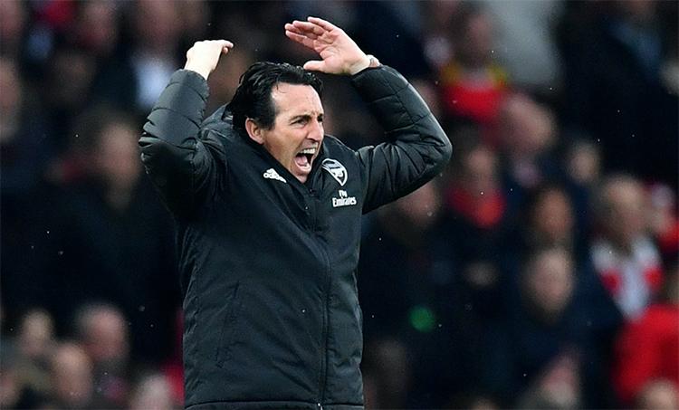 Dấu ấn duy nhất Emery làm được tại Arsenal là vào chung kết Europa League 2019 (thua Chelsea 1-4). Ảnh: Reuters