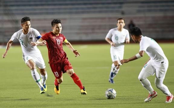 Thủ lĩnh U22 Việt Nam luôn thi đấu tỉnh táo, hết mình trên sân.