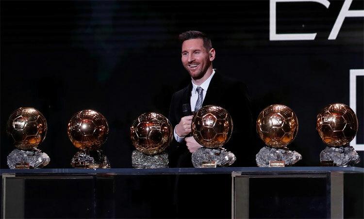 Messi và kỷ lục cá nhân giành sáu Quả Bóng Vàng. Ảnh: Reuters