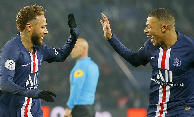Có Neymar và Mbappe, việc ghi bàn chỉ còn là vấn đề thời gian với đội bóng thủ đô. Ảnh: AP