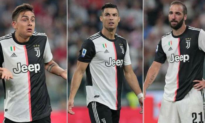 Dybala, Ronaldo, Higuain chưa thể trở thành bộ ba đúng nghĩa. Ảnh: Reuters