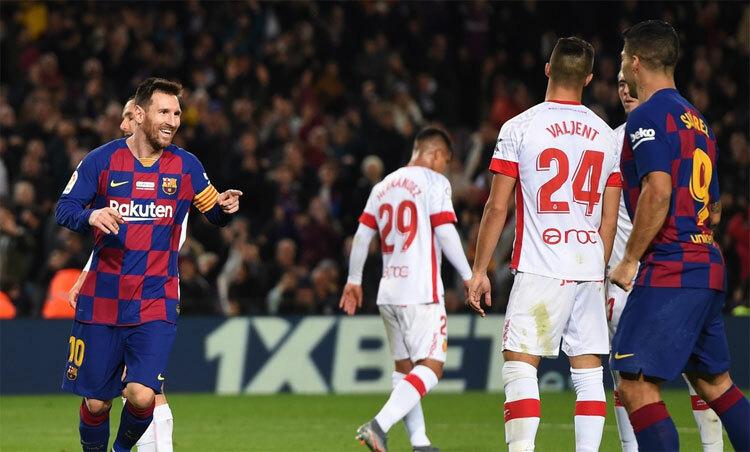 Mallorca không thể ngăn hàng công đang có phong độ tốt của Barca.