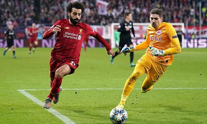 Tình huống ghi bàn khéo léo của Salah.