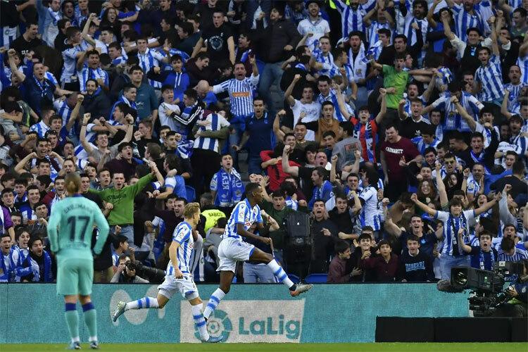 Sociedad buộc Barca ra về với một điểm.