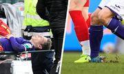 Cầu thủ bị gãy gập chân tại giải VĐQG Bỉ
