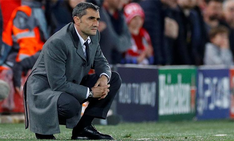 Valverde và Barca từng bị loại một cách cay đắng trong hai mùa gần nhất. Ảnh: Reuters