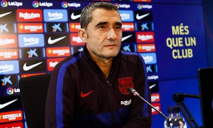 Valverde thừa nhận Barca có lợi thế khi được nghỉ hơn Real một ngày. Ảnh: AS.
