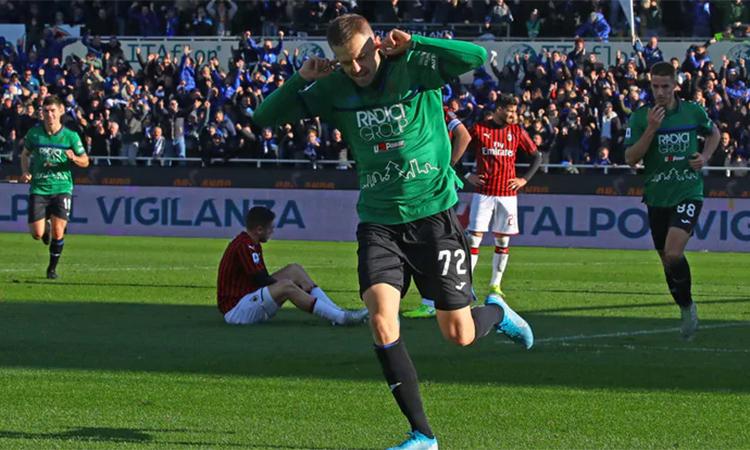 Milan trở thành mồi ngon để Atalanta thi triển thứ bóng đá tấn công hừng hực lửa đã trở thành thương hiệu của họ dưới thời HLV Gasperini. Ảnh: ANSA.