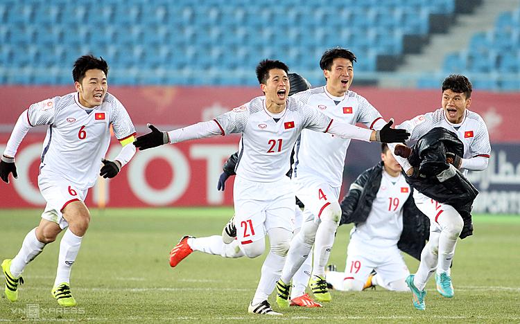 Đội U23 Việt Nam gây chấn động ở VCK U23 châu Á 2018 khi lọt vào chung kết. Ảnh: Anh Khoa.