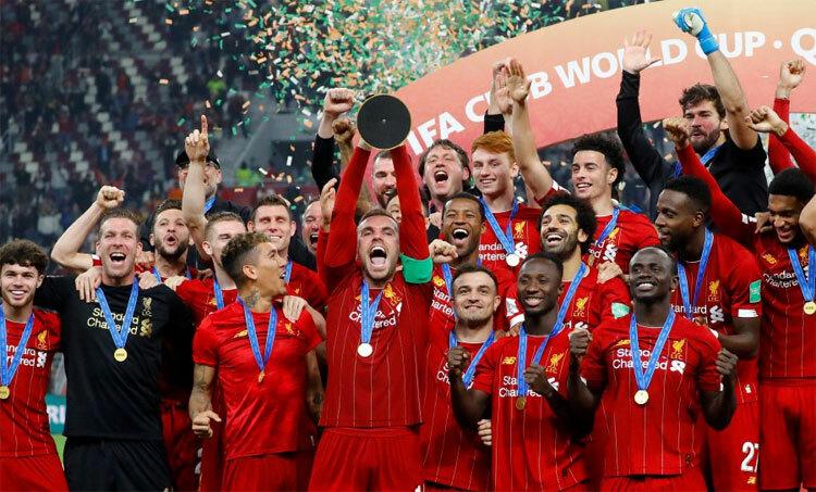 Liverpool mới đăng quang giải đấu của FIFA. Ảnh: Reuters