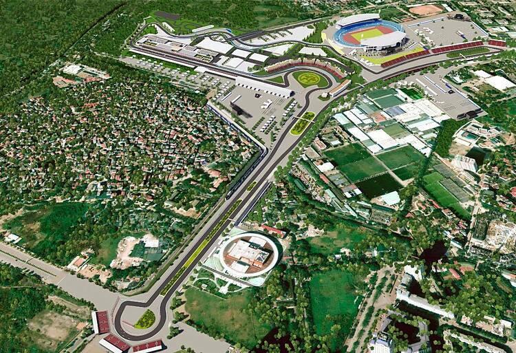 Phối cảnh đường đua F1 Việt Nam.