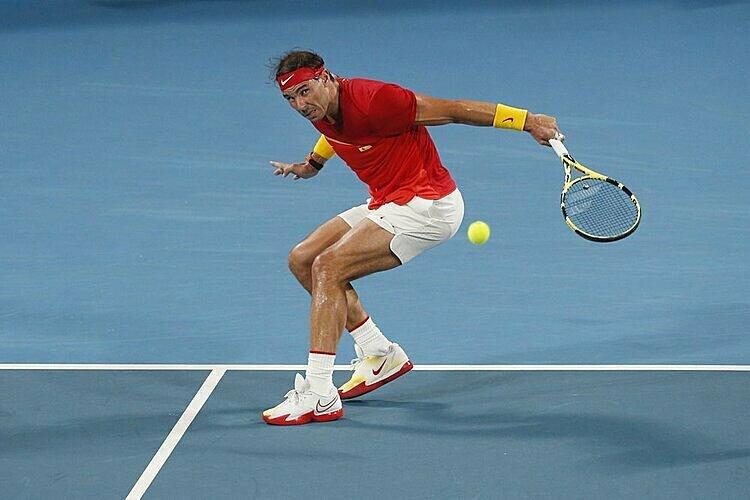 Nadal không thể thắng game đỡ bóng nào trong trận chung kết. Ảnh: AP.