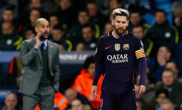 Messi luôn là cầu thủ hay nhất trong mắt Guardiola. Ảnh: Reuters