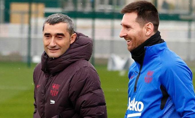 Messi đã ghi 112 bàn dưới triều đại Valverde. Ảnh: FCB