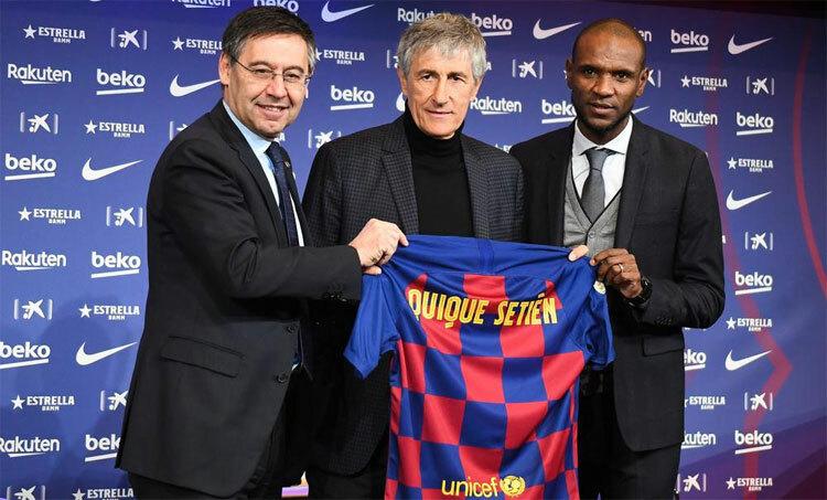 Setien được kỳ vọng sẽ đưa Barca trở lại với lối chơi quyến rũ. Ảnh: Reuters