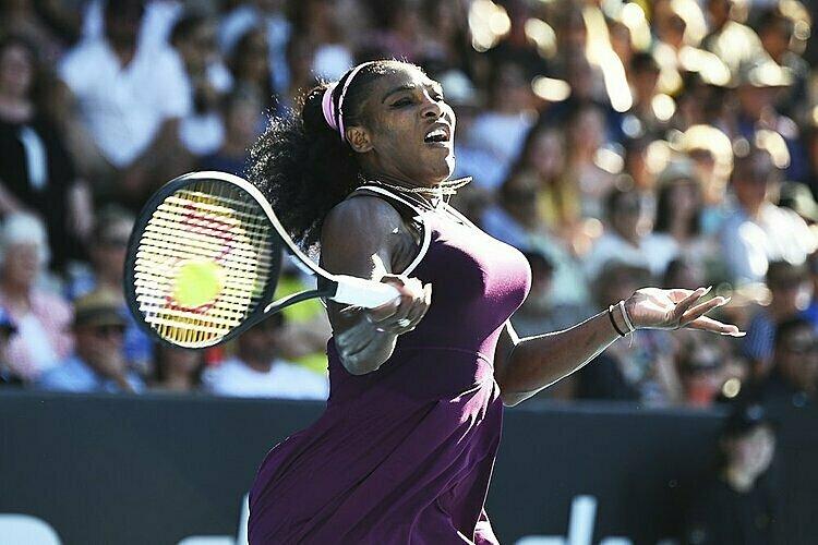 Serena vừa vô địch tại Auckland tuần trước. Ảnh: AP.