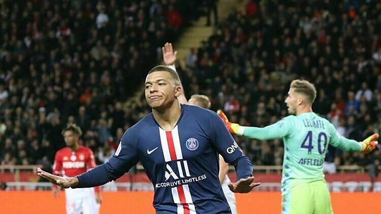 Mbappe ghi 14 bàn tại Ligue 1 mùa này. Ảnh: Yahoo.