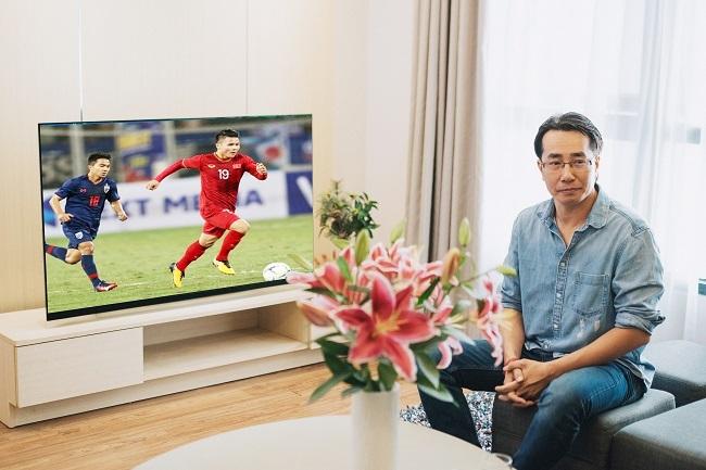 TV LG OLED là lựa chọn củabình luận viên Anh Ngọcđể xem thể thao, phim ảnh.
