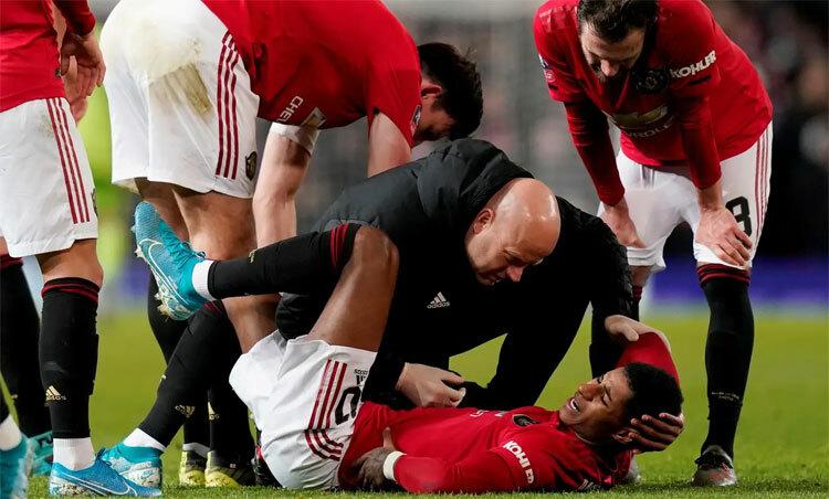 Rashford khó lòng đại chiến với kình địch Liverpool. Ảnh: Reuters