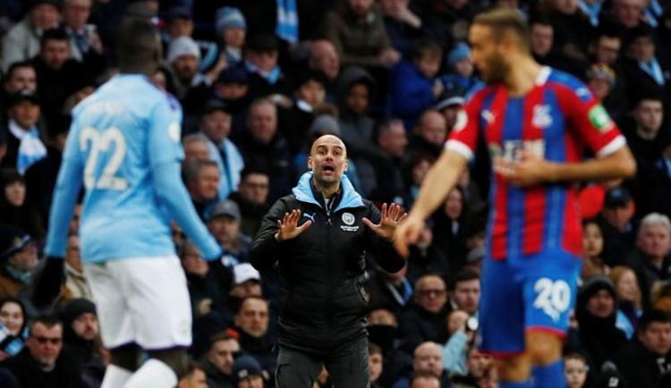 Guardiola cho rằng Man City chỉ có thể tự trách bản thân vì để rơi chiến thắng. Ảnh: Reuters.