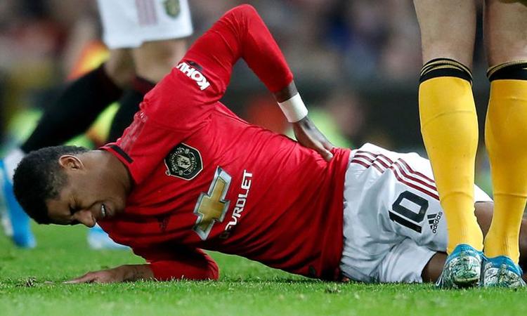Chấn thương của Rashford là đòn mạnh giáng vào Man Utd. Ảnh: PA.