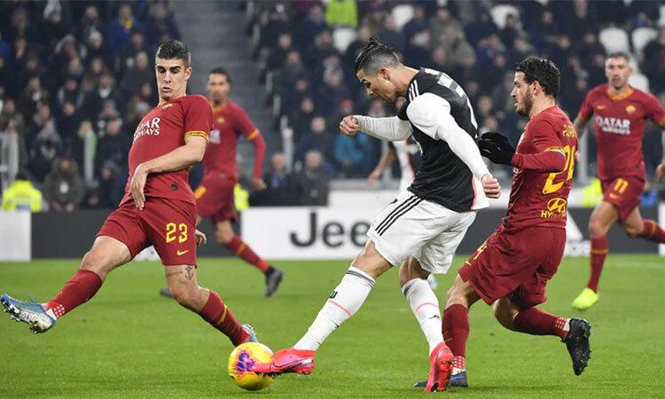 Ronaldo trong tình huống mở tỷ số trận đấu. Ảnh: La Presse.