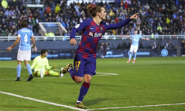 Griezmann giải cứu Barca khỏi thảm họa. Ảnh: Reuters
