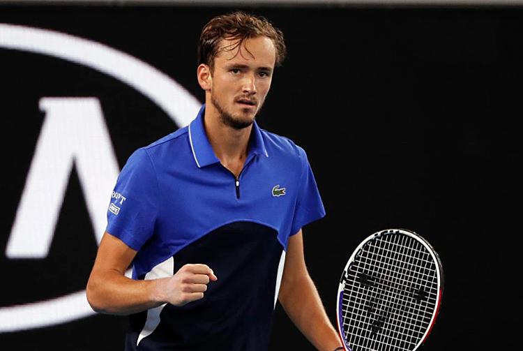 Medvedev được xem như đối thủ tiềm năng của Nadal ở bán kết. Ảnh: Reuters.